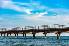 пустое море пристани Стоковые Фото