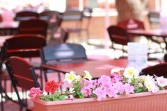 Пустое напольное кафе Стоковое Фото