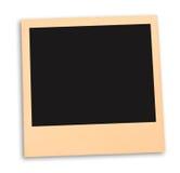 Пустое немедленное фото при черный космос изолированный на белизне подготавливайте к объявлению ваше фото Стоковое Фото