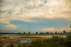 пустое поле Стоковая Фотография RF