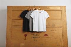 Пустое представление футболок Стоковое фото RF