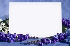пустое приглашение Стоковое Изображение RF