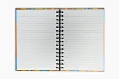 пустое примечание книги открытое Стоковые Изображения RF