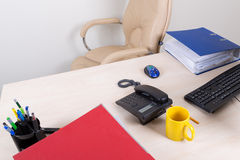 Пустое рабочее место офиса Стоковое Фото