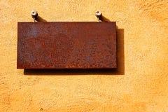 Пустое ржавое металлопластинчатое Стоковая Фотография RF