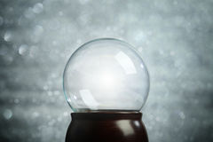 Пустое рождество глобуса снега Стоковое Фото
