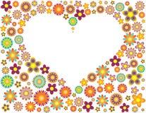 пустое сердце цветков Стоковое Фото