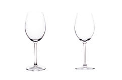 Пустое стекло красного вина. Стоковая Фотография RF