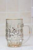 Пустое стекло пива Стоковая Фотография