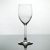 пустое стеклянное вино Стоковые Изображения RF
