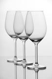 пустое стеклянное вино Стоковая Фотография