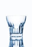 Пустое стекло белизна изолированная предпосылкой Стоковые Фотографии RF