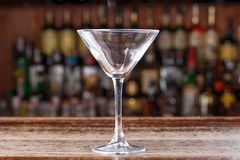Пустое стекло коктеиля космополитическое Стоковая Фотография RF