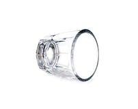 Пустое стекло для вискиа на белой предпосылке Стоковая Фотография RF