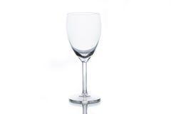 пустое стеклянное белое вино Стоковая Фотография
