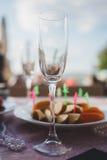 пустое стеклянное вино Стоковое фото RF