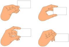 пустое удерживание руки визитной карточки иллюстрация вектора