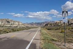 Пустое шоссе 12 в Юте Стоковое фото RF