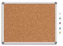 Пустое corkboard с покрашенными штырями Стоковые Изображения RF