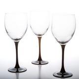 Пустое glasson вина 3 белая предпосылка Стоковые Изображения
