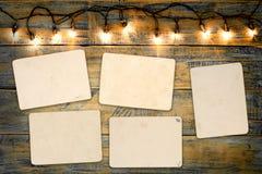 Пустой альбом рамки фото Стоковые Фотографии RF