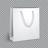 Пустой белый модель-макет хозяйственной сумки Стоковое Изображение
