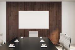 Пустой белый плакат в конференц-зале иллюстрация штока