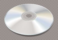 пустой белый trans КОМПАКТНОГО ДИСКА 3D Стоковое фото RF