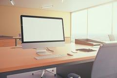 Пустой белый дисплей Стоковая Фотография RF