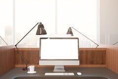 Пустой белый экран ПК Стоковое Фото