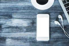 Пустой белый smartphone Стоковая Фотография