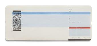 Пустой билет на самолет стоковое изображение