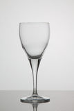 Пустой бокал вина на белой предпосылке Стоковая Фотография RF