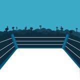 Пустой боксерский ринг иллюстрация штока