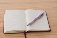 Пустой буклет с ручкой Стоковые Фото