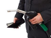пустой бумажник сопла газа Стоковая Фотография RF