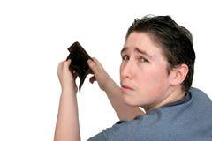 пустой бумажник человека Стоковое Фото