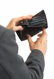 пустой бумажник Стоковые Фото