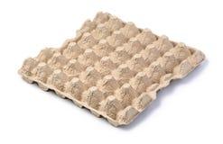 Пустой бумажный поднос яичек Стоковые Фото
