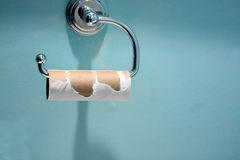 пустой бумажный туалет крена Стоковое Изображение
