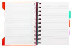 Пустой блокнот на белизне Стоковые Фотографии RF