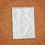 пустой вектор листа бумаги иллюстрации Стоковое Фото
