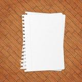 пустой вектор листа бумаги иллюстрации Стоковая Фотография RF