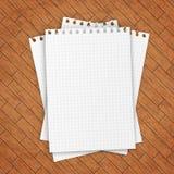 пустой вектор листа бумаги иллюстрации Стоковая Фотография