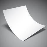 пустой вектор листа бумаги иллюстрации Стоковое Изображение RF