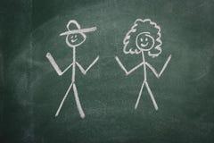 пустой вектор chalkboard Стоковые Изображения