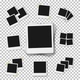 Пустой винтажный модель-макет рамки фото на прозрачном St PS Стоковое фото RF