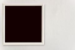 Пустой вид рамок на белых стенах Стоковое Изображение RF