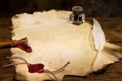 пустой воск уплотнения пергамента Стоковое фото RF