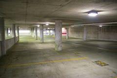 Пустой гараж в внутренней гавани в Балтиморе, Мэриленде Стоковая Фотография RF